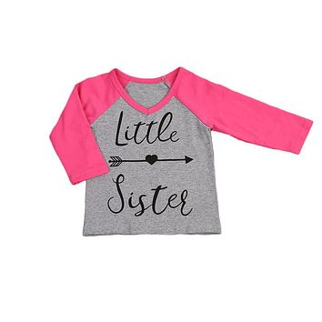 Toddler Baby Kids Girls letter shirt new arrival long sleeve T-shirt Tops Matching Outfits