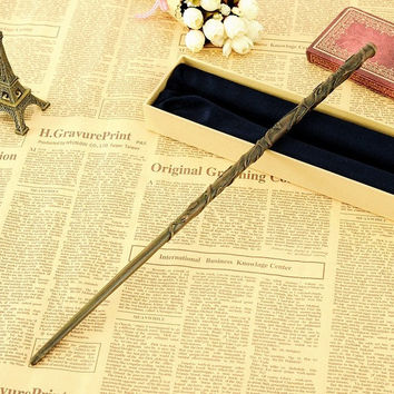2016 Metal Core Harry Potter Magical Wand Newest Quality Deluxe COS Hermione Granger Magic Wands Stick with Gift Box Packing