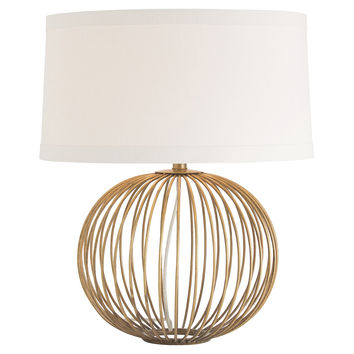 Grayer Table Lamp, Antique Brass, Table Lamps