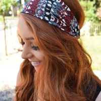 Diamond Printed Headband