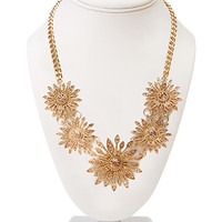 Sunburst Faux Stone Necklace