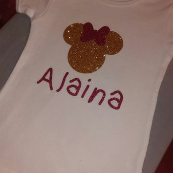 Custom Minnie Mouse Shirt With Name