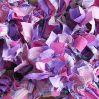 Spring, Easter or Baby Lighted Fabric Garland - Handmade in Pennsylvania