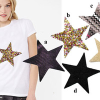 1 Heat Transfer Applique Design of Star Patch  for by KBazaar