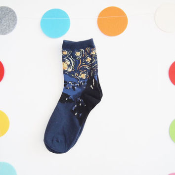 MoMa Van Gogh- The Starry Night Socks