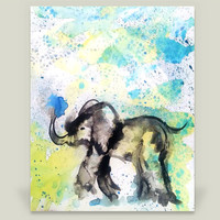 Elephant in the Rain Art Print by emmakaufmann on BoomBoomPrints