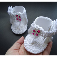 "Crochet Baby flip flop sandals, Summer sandals, Baby sandals, Custom baby shoes, Fashion baby, Baby accessories - Up to 10 cm (3.9"")"