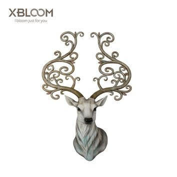 BLOOM 2018 new Deer Statue Creative High imitation Animal home decoration accessories  decoracion hogar  House decorated statue