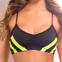 Vertical Vixen Power Hold Scrunch Front Workout Top