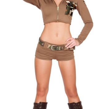 Sexy Soldier Babe Costume