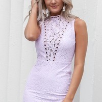 Now And Then Lilac Lace Dress