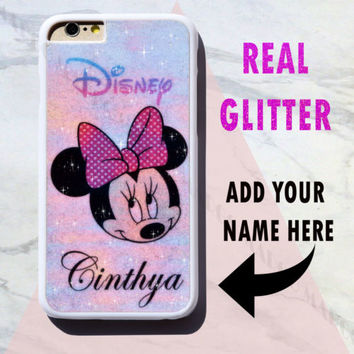 New Real Glitter Personalised Rainbow Bling Sparkle Disney Case Cover for iPhone | eBay