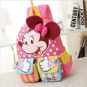 Minnie Mouse Backpack For Boys Girls Schoolbag Teenagers Cartoon Print Children School Bag Students Children School bag