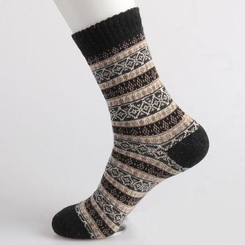 New high quality free shipping caramella wool socks men sox socks style winter warm happy's socks