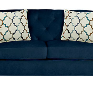 Sofia Vergara Monaco Court Navy Loveseat - Loveseats (Blue)