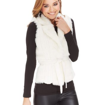 XOXO Juniors' Faux-Fur Sweater Vest