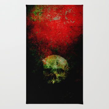 skull in the shadow Area & Throw Rug by Ganech joe