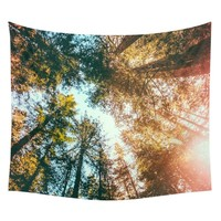 Looking Up At Trees Cute Wall Hanging Tapestry