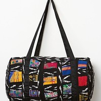Stela 9 Womens Patchwork Duffle - Black One