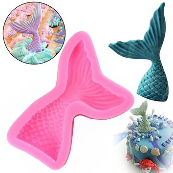 1Pc Mermaid Tail Silicone Mold Cookie Fondant Mold Candy Chocolate Mould Cake Decoration Bakery Tool Kitchen Gadget