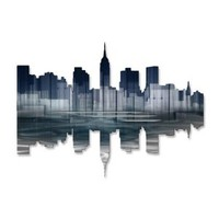 New York City Reflection II Metal Wall Art - 30W x 22H in.