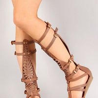 Liliana Andika-1 Cut Out Gladiator Flat Sandal