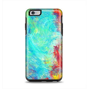 The Vibrant Colored Messy Painted Canvas Apple iPhone 6 Plus Otterbox Symmetry Case Skin Set