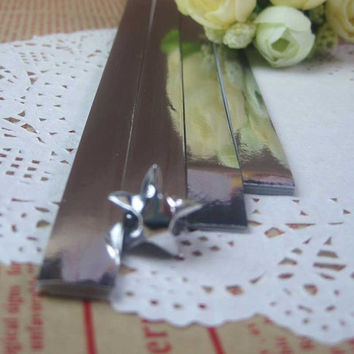 Star Folding Origami Paper /Metallic Silver Bling / Paper Lucky Star / Favour Strips Colors -90 Stripes
