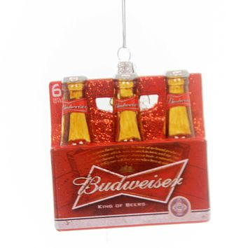 Holiday Ornaments Budweiser 6 Pack Ornament Glass Ornament