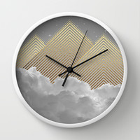 Silence is the Golden Mountain (Stay Gold) Wall Clock by Soaring Anchor Designs