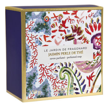 Fragonard, LE JARDIN DE FRAGONARD, Jasmin Perle de The, Sculpted Soap, 150 g (5.29 oz)