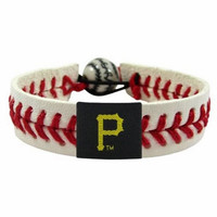 Gamewear MLB Leather Wrist Band - Pirates (Red)