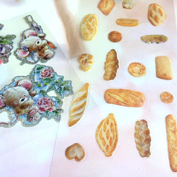 bakery bread sticker breakfast brunch planner sticker mini bread photo French bread cute food kids chef bakery theme deco sticker gift