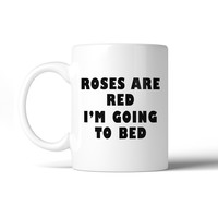 Roses Are Red Funny Ceramic Mug Cute Design Coffee Cup Gift Ideas