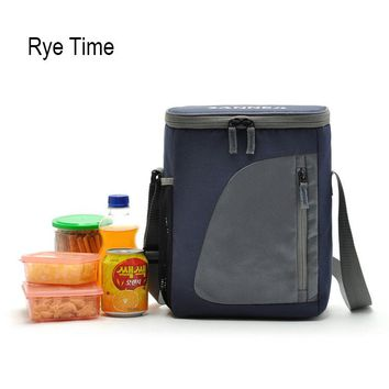 2017 new brand cooler bag insulated cool shoulder bags picnic ice pack thermo lunch box food milk fresh insulation bag
