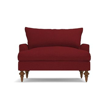Saxon King Chair in BERRY - CLEARANCE