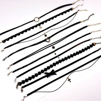 Gift New Arrival Shiny Jewelry Stylish Accessory Simple Design Chain Set Innovative Necklace [11415518740]