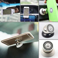 360 Degree Universal Magnetic Car Mobile Phone Holder Air Vent Mount Magnet Cell Phone Stand Kit For Mobile Phone Accessories