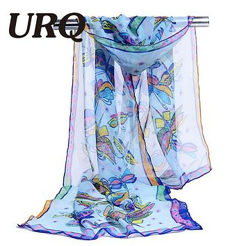 chiffon scarf print abstract women's scarf silk lady brand design spring summer patterns cape shawl wrap cachecol feminino 2017