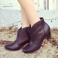 Downtown Black Ankle Booties