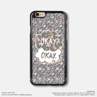 The Fault in Our Stars Okay Rose Floral iPhone 6 6Plus 5s 5C case 775-28
