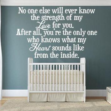 A Mother's Love Bedroom Wall Quote Sticker Decal