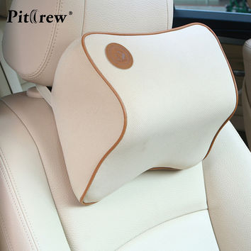 1PCS 2016 New Design Space Memory Fabric Car Pillow Personality Headrest Car Seat Cover Travel Office Neck Pillow 27*22*12 cm