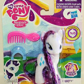 "Licensed cool NEW 2013 3 1/2"" My Little PONY RARITY CRYSTAL EMPIRE w/accessories  SHIP"