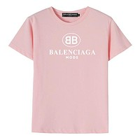 Balenciaga Children Girls Boys Casual Shirt Top Tee