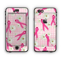 The Pink Ribbon Collage Breast Cancer Awareness Apple iPhone 6 LifeProof Nuud Case Skin Set