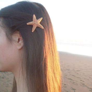 Small Starfish Barrette - Starfish Hair Accessories - Beach Hair Accessories - Mermaid Hair Accessories - Cute Hair Accessories