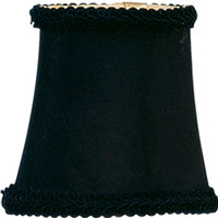 0-015476>3x5x4.25 Chandelier Bell Lamp Shade Black