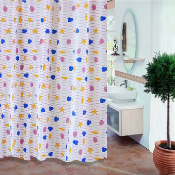 Hot Sales Bathroom Shower Curtains Waterproof PEVA Mildew Proof Shower Curtain7 Styles