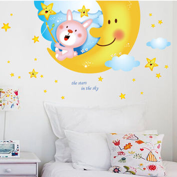 Big moon design of children room wall stickers on the wall stick mobile household wall stick on the wall SM6